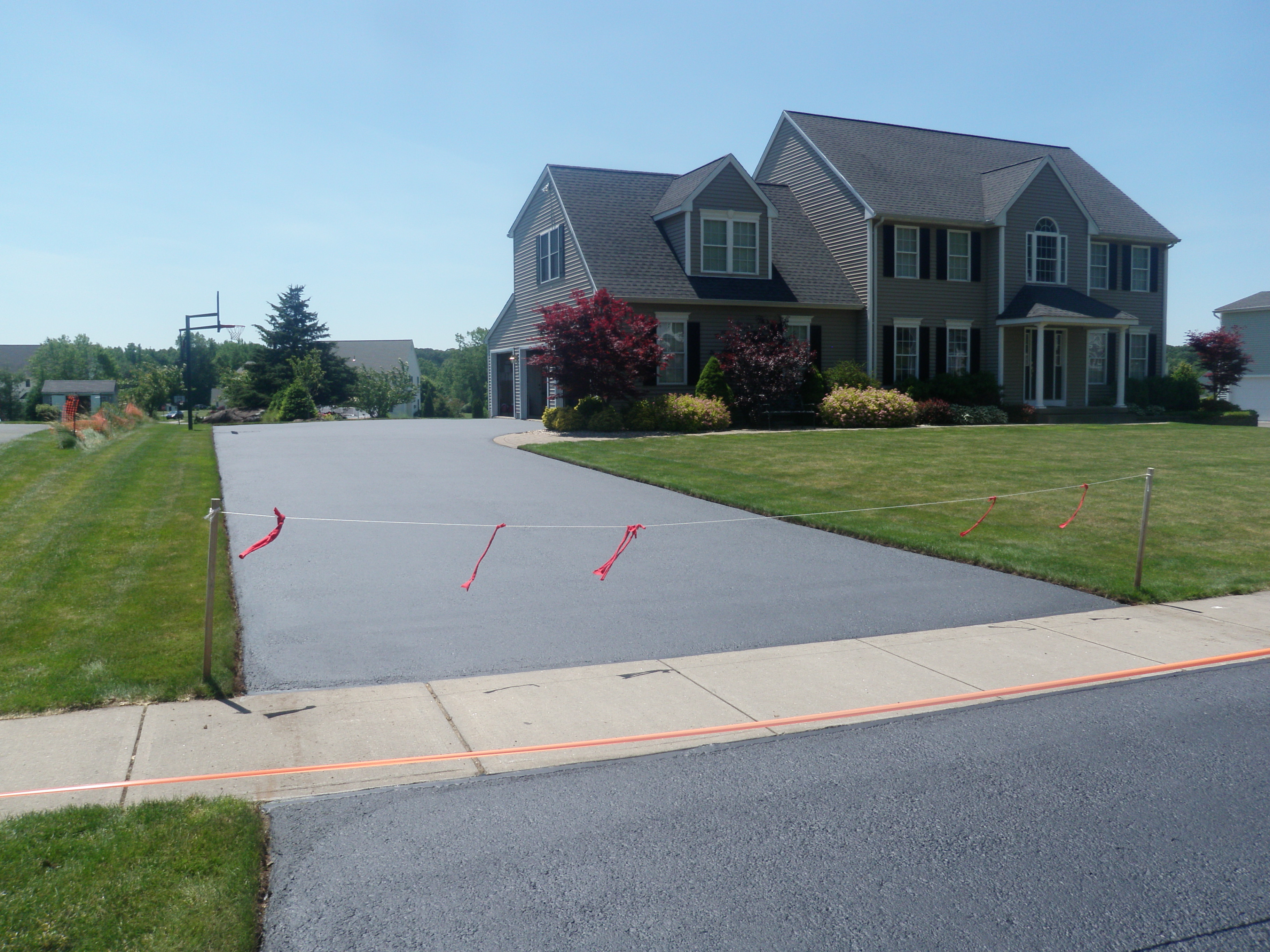 Finished Driveway Sealing Project 7