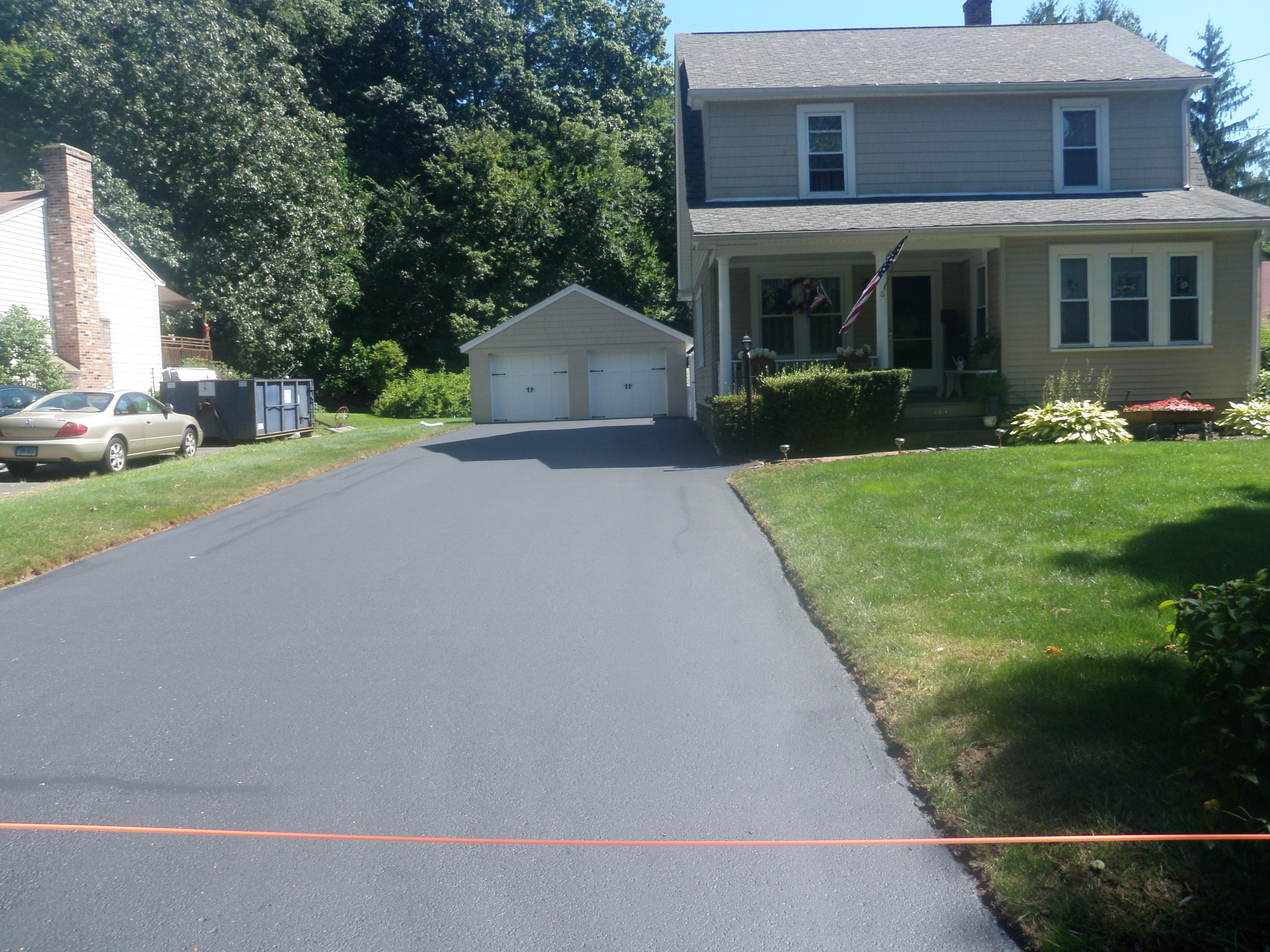 Finished Driveway Sealing Project 4
