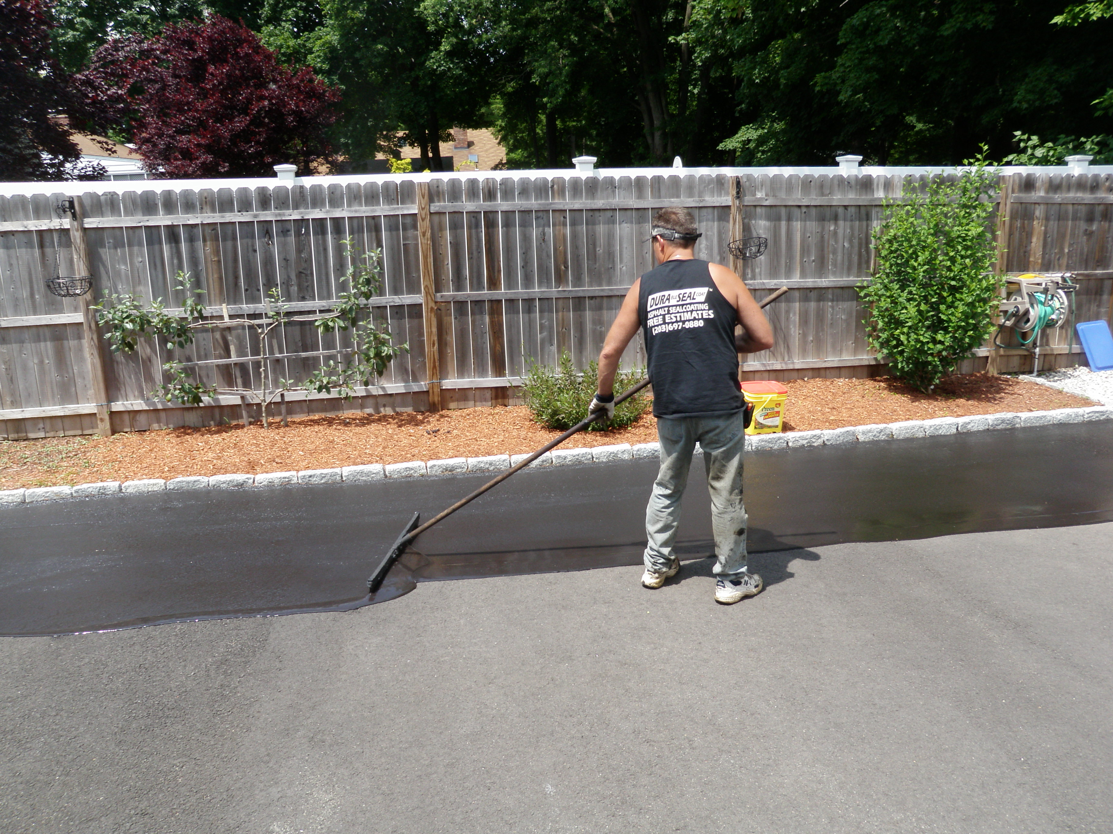 Squeegee Style Driveway Sealing